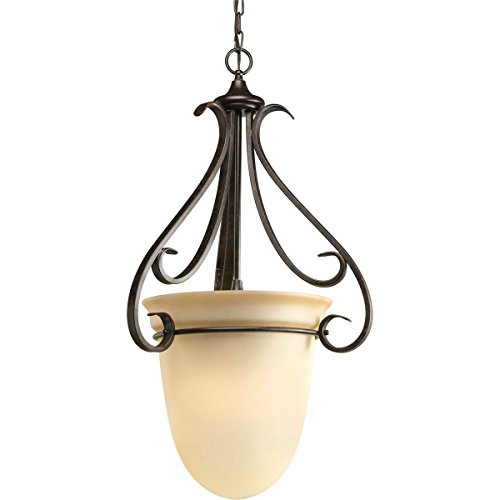 (Progress Lighting P3824-77 3-Light Torino Foyer Pendant, Forged Bronze )