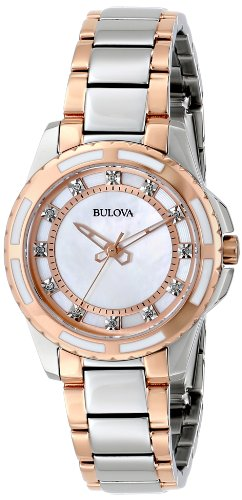 Bulova Women's 98P134 Diamond Dial Watch
