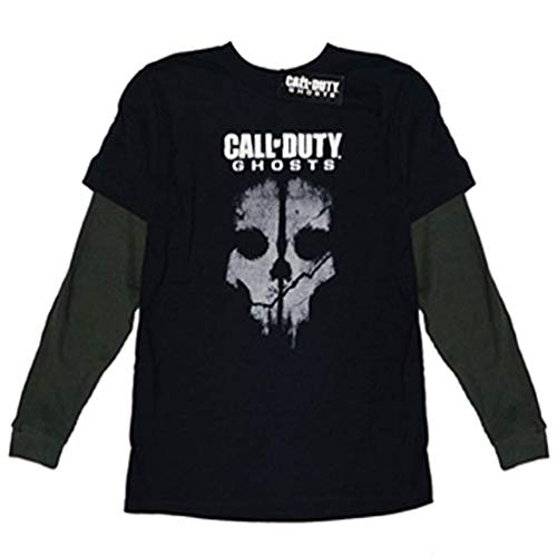 Call of Duty Ghosts Boys' Long Sleeve Tee, Black L(14/16)