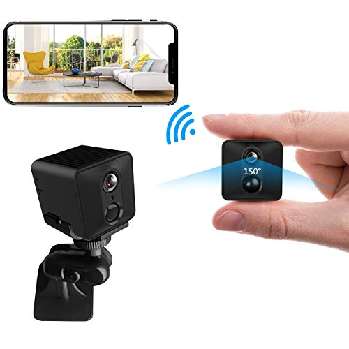 Mini Spy Hidden Camera – WiFi HD 1080P Camera PIR 50-Days Standby/Low Power Consumption Motion Detection Video Recorder Night Vision Security Small Cam (2400mAh, Black)