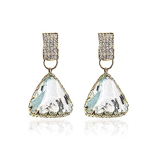 QJLE Austrian Crystal Rhinestone Triangle Dangle Earrings for Women,Pave CZ Cubic Zirconia Statement Dangling Drop Earrings for -