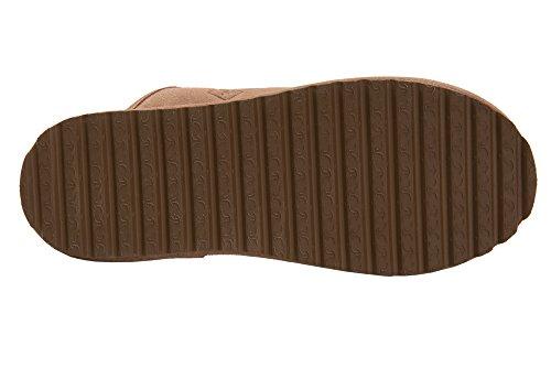 Pantofole Rusnak Mens Pelle Di Pecora Casa Scarpe Caldo Fodera Lana M68p Beige