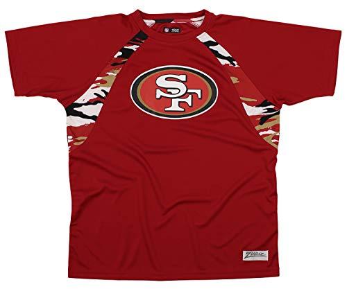 Zubaz NFL Men's Camo Solid T-Shirt, SAN Francisco 49ERS X-Large