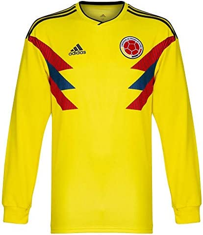 adidas 2018 2019 Colombia Home Long Sleeve Football Soccer T Shirt Maillot