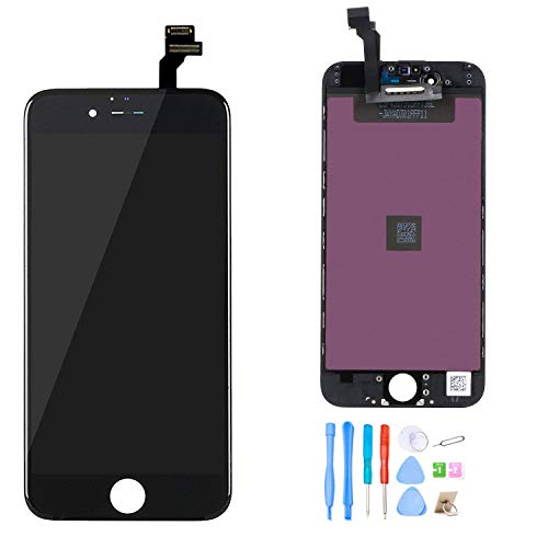 recyco Compatible LCD Screen Replacement Black for iPhone 6 4.7
