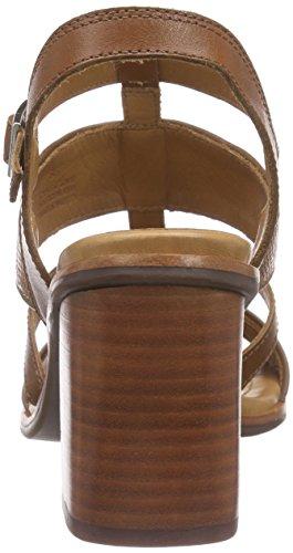 Primafila 32607 Damen Offene Sandalen mit Blockabsatz Mehrfarbig (Rame/Cognac)