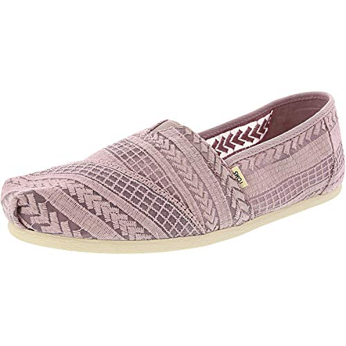 TOMS Women's Alpargata Burnished Lilac Arrow Embroidered Mesh 9 B US