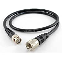 CablesOnline 2ft RG8x Coax UHF (PL259) Male to BNC Male Plug 50 OHM Antenna Ham Radio Cable (R-UB002)