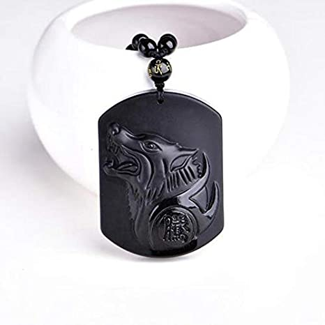Natural Black Obsidian Carved Cute Elephant Pendant Beads Necklace Charm Jewelry Amulet Choker Pendant Unisex Elephant
