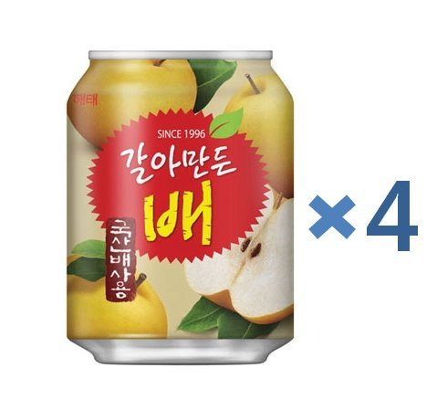 [ Haitai ] Crushed Korean Pear Juice 238ml x 4 - known as IdH / Good Cure for Hangover - Product of Korea