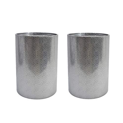 Christopher Knight Home Kaylee Modern Round Hammered Iron Accent Table (2 Pack) -Silver (Metal Furniture Hammered)