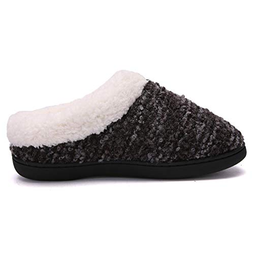 Pictures of Women's Comfort Memory Foam Slippers Plush 5