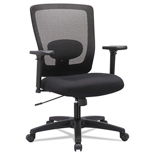 Alera ALENV42B14 Envy Series Mesh Mid-Back Swivel/Tilt Chair, Black