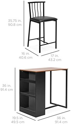 home, kitchen, furniture, kitchen, dining room furniture,  table, chair sets 6 discount Best Choice Products 36-Inch Wooden Metal Kitchen in USA
