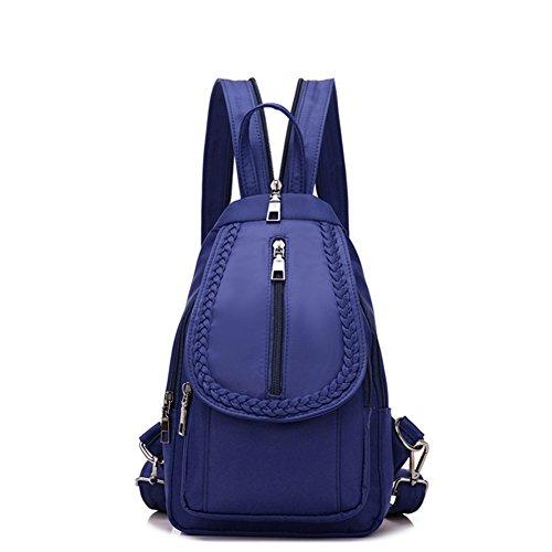 Ladies petto pack,borsa a tracolla doppia,viaggio zaino-blu piccolo