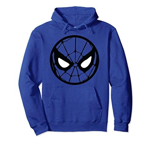 Unisex Marvel Spider-Man Circle Mask Graphic Hoodie Medium Royal Blue