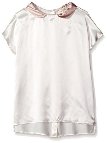 Monnalisa Kid's Peter Pan Collar Top, Pink Ivory, 12 by Monnalisa
