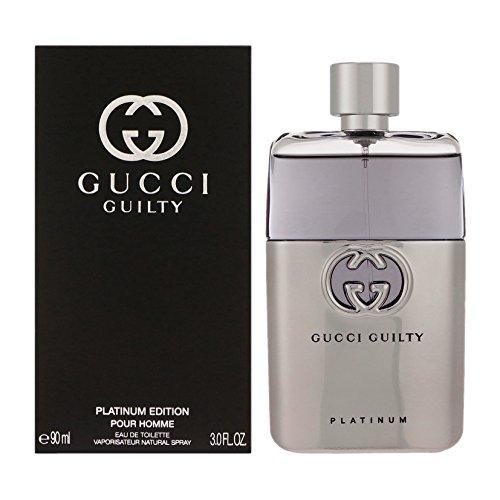 Gucci Guilty Platinum Edition Eau De Toilette Spray for Men, 3 Ounce (Man Gucci Parfum For)