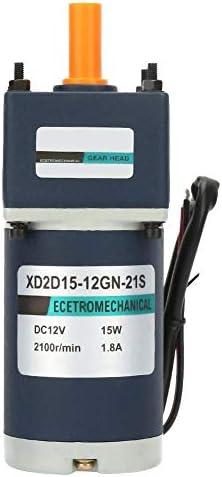 ZJN-JN DC12Vギアモーター、15W 1800 / 2100RPM還元ギヤードモータ電気永久磁石金属大きなトルクモーター(12.5 / 170RPM) 工業用モータ