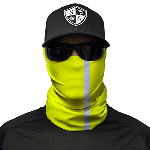 S A 1 Face Shield Reflective Electric Yellow Face Shields for Men and Face Shields for Women - UV Face Shield