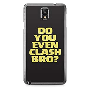 Clash of Clans Samsung Galaxy Note 3 Transparent Edge Case - Do You Even Clash Bro