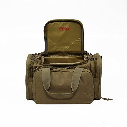 Osage River Tactical Shooting Gun Range Bag (Coyote Tan, Light Duty (13.5 x 10.5 x 7.5) (Boyt Range Bag)