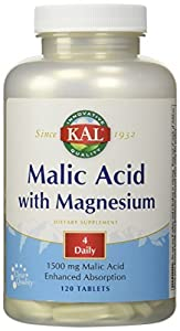 Kal Malic Acid with Magnesium -- 120 Tablets by Kal