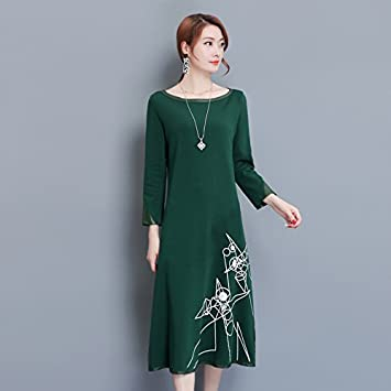 Gaoxu Ropa De Mujer Gx El Vestido Suelto En Un Gran Vestido