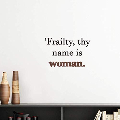 DIYthinker Frailty Names Woman Shakespeare Vinyl Wall Sticker Wallpaper Room Decal