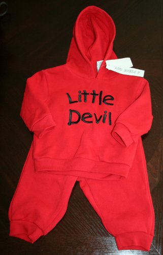 Goodwill Halloween Costumes (Brand New Little Devil Halloween Costume 2 Pc Sweat Suit 12M)