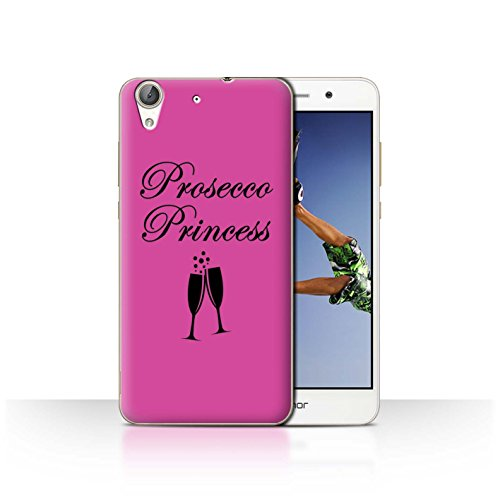 STUFF4 Phone Case/Cover for Huawei Y6 II/Honor 5A / Prosecco Princess/Glass Design/Prosecco Fashion Collection