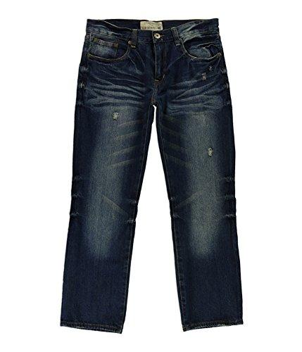 Ecko Unltd. Mens 714 Straight Leg Jeans Blue 30x30