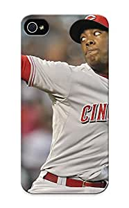 Fashion Tpu Case For Iphone 5/5s- Cincinnati Reds Mlb Baseball 46 Defender Case Cover For Lovers