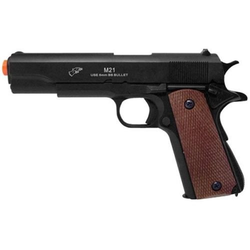 DOUBLE EAGLE M1911 AIRSOFT FULL SIZE SPRING PISTOL GUN w/ 6mm BB Heavy Weight