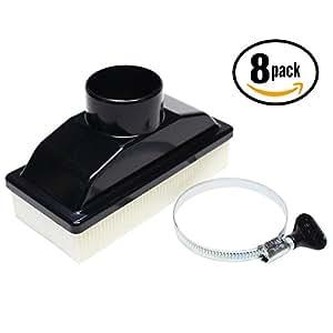 8-Pack Replacement Kawasaki FR600V Air Filter - Compatible Kawasaki 11013-0727 Filter