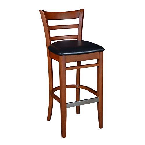 OKSLO Regency seating zoe wood cafe 42 stool, cherry/black