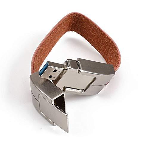 G0O03q3e USB Flash Pen Drive U Disk,64MB-64GB Faux Leather Bracelet USB Flash Drive Memory Storage Stick U Disk - Brown 512mb