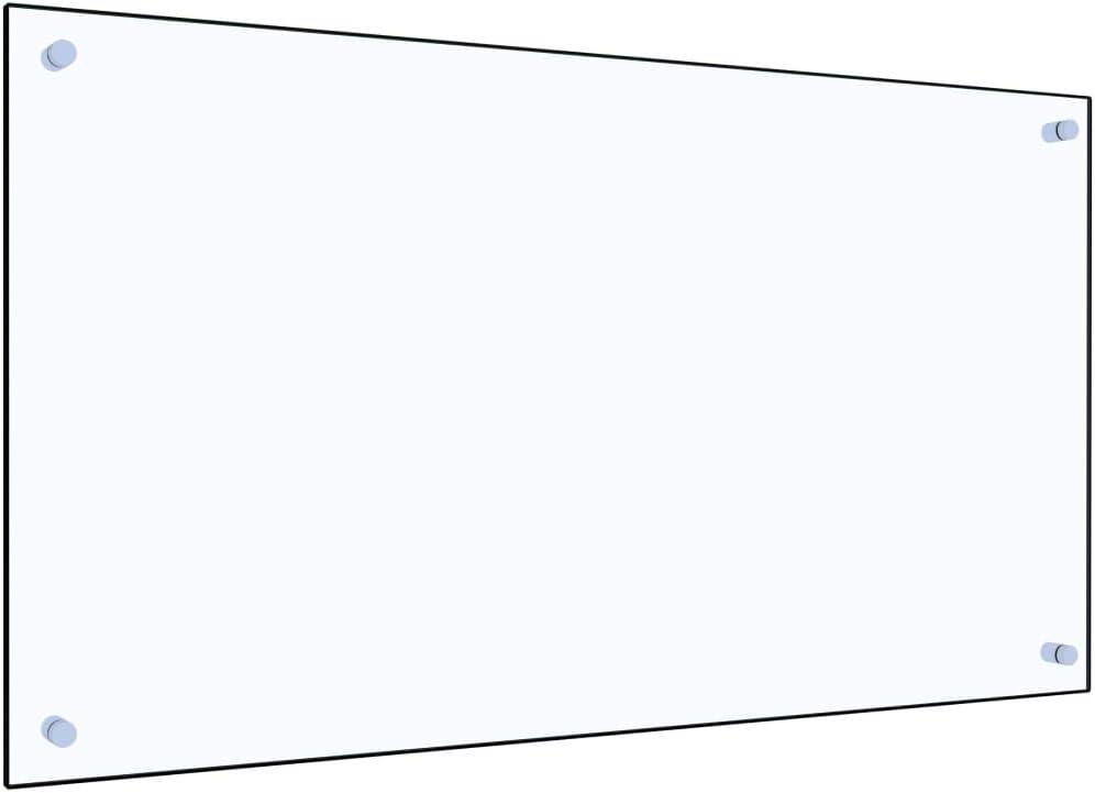 vidaXL K/üchenr/ückwand Spritzschutz Fliesenspiegel Glasplatte R/ückwand Herdspritzschutz Wandschutz Herd K/üche Transparent 80x40cm Hartglas