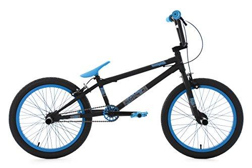KS Cycling Bmx Freestyle Twentyinch Fahrrad, Schwarz/Blau, 20 Zoll