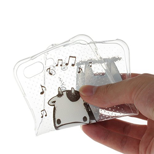 Voguecase® für Apple iPhone 7 Plus 5.5 hülle, Schutzhülle / Case / Cover / Hülle / TPU Gel Skin (Durchstochen-Musik Hirsch) + Gratis Universal Eingabestift