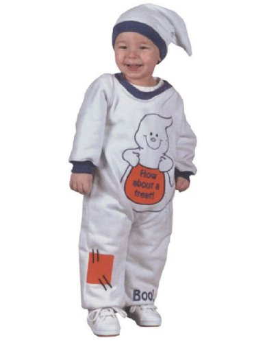 Costumes For All Occasions Fw9672M Ghost Jumpsuit 6 12 Months ()