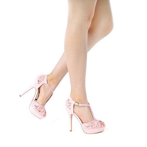 PAIRS Stilettos High Heeled Peep Heel DREAM Fashion Pink Women's Pump Swan Sandals Toe 16 d4xwd0qp