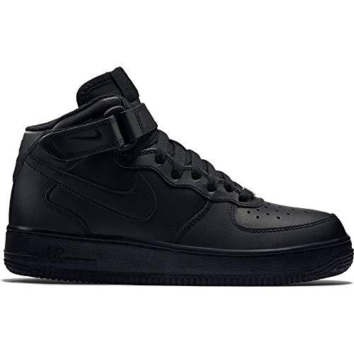 Nike Big Kids Air Force 1 Mid 314195-004 (Black/Black, 4.5)