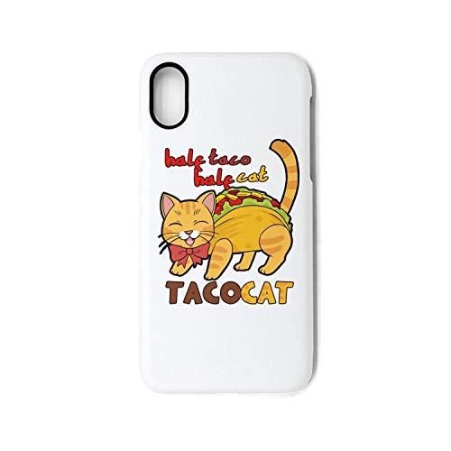 ZaiyuXio iPhone X Case, iPhone 10 Case Half Taco Half Cat Shock Absorption Technology Bumper Soft TPU Cover Phone Case for iPhone X/iPhone 10 ()
