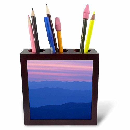- 3dRose Danita Delimont - Sunsets - Sunset at Clingmans Dome Great Smoky Mtn National Park, North Carolina - 5 inch tile pen holder (ph_259815_1)