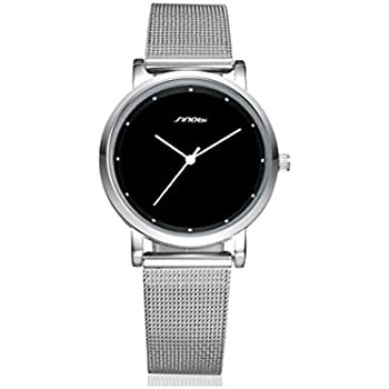 Reloj De Mujer De Moda 2018 Women Ultra Thin Quartz Watch Mesh Belt Stainless Steel Band RE0081
