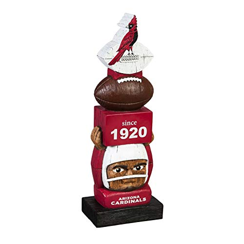 - Team Sports America Arizona Cardinals Vintage NFL Tiki Totem Statue