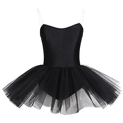 CHICTRY Women's Strapless One Piece Ballet Dance Dress Tulle Tutu Skirt