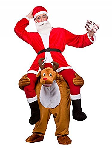Beer Festival Adult Costumes Riding on Shoulder Fancy Dress Mascot Costume For Christmas (Snow (Costume Commercial)
