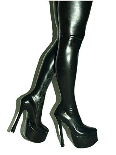 High Poland 37 Bolingier Latex 20cm 47 FS889 Stiefel Rubber Heel Gummi Size qqO40t